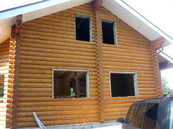 дом из бруса и бревна